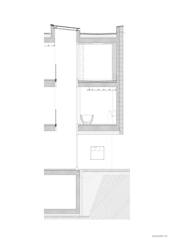 Coupe détail de la façade Hurdnerwäldli de Rudolf Neff<br/>