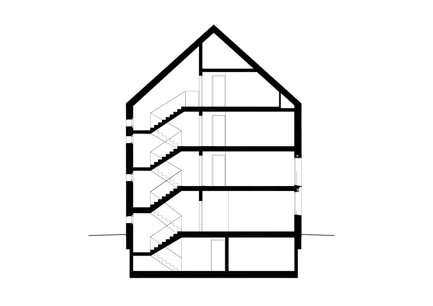 Schnitt Mehrfamilienhaus in Gland VD von collinfontaines architectes Sàrl