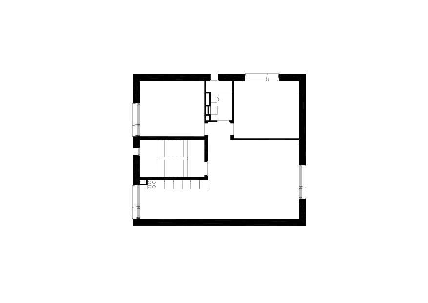 Grundriss 1. Obergeschoss Mehrfamilienhaus in Gland VD von collinfontaines architectes Sàrl