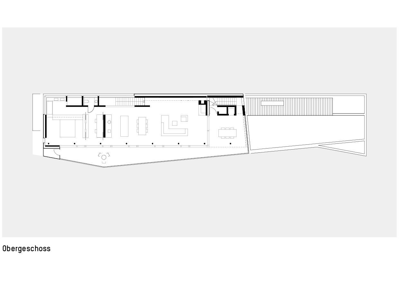 Grundriss Obergeschoss Haus zum Verweilen von Della Giacoma + Krummenacher Architekten AG