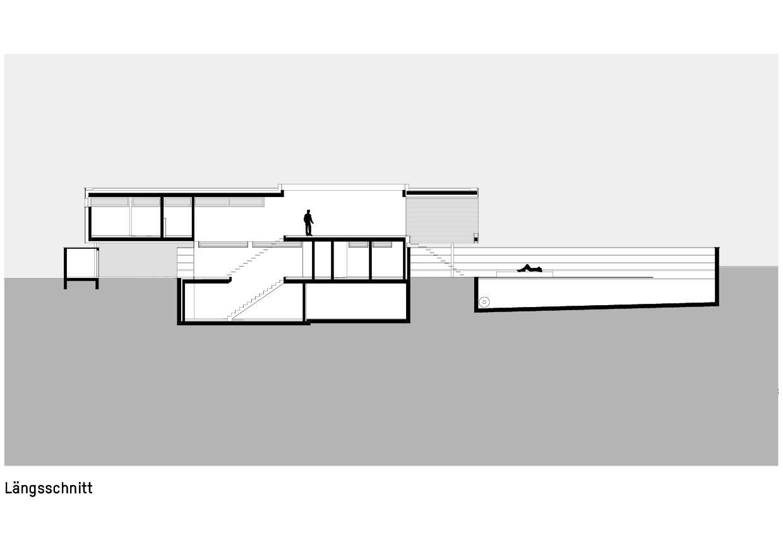 Schnitt Haus zum Verweilen von Della Giacoma + Krummenacher Architekten AG