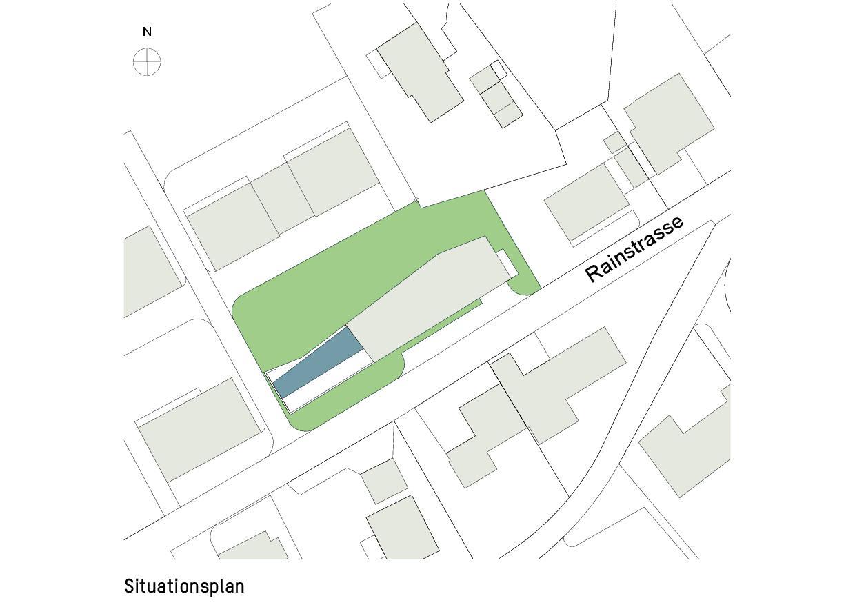 Situation Haus zum Verweilen von Della Giacoma + Krummenacher Architekten AG