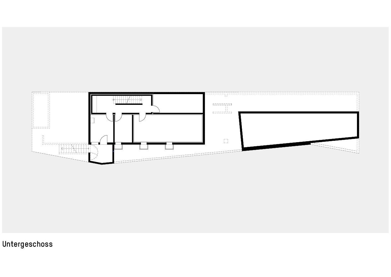 Grundriss Untergeschoss Haus zum Verweilen von Della Giacoma + Krummenacher Architekten AG