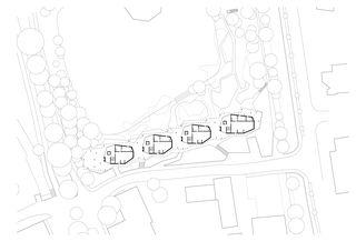 Plan du rez-de-chaussée avecenvironnement 1:750 Wohnüberbauung am Herterweiher, Uster de Morger + Dettli Architekten AG