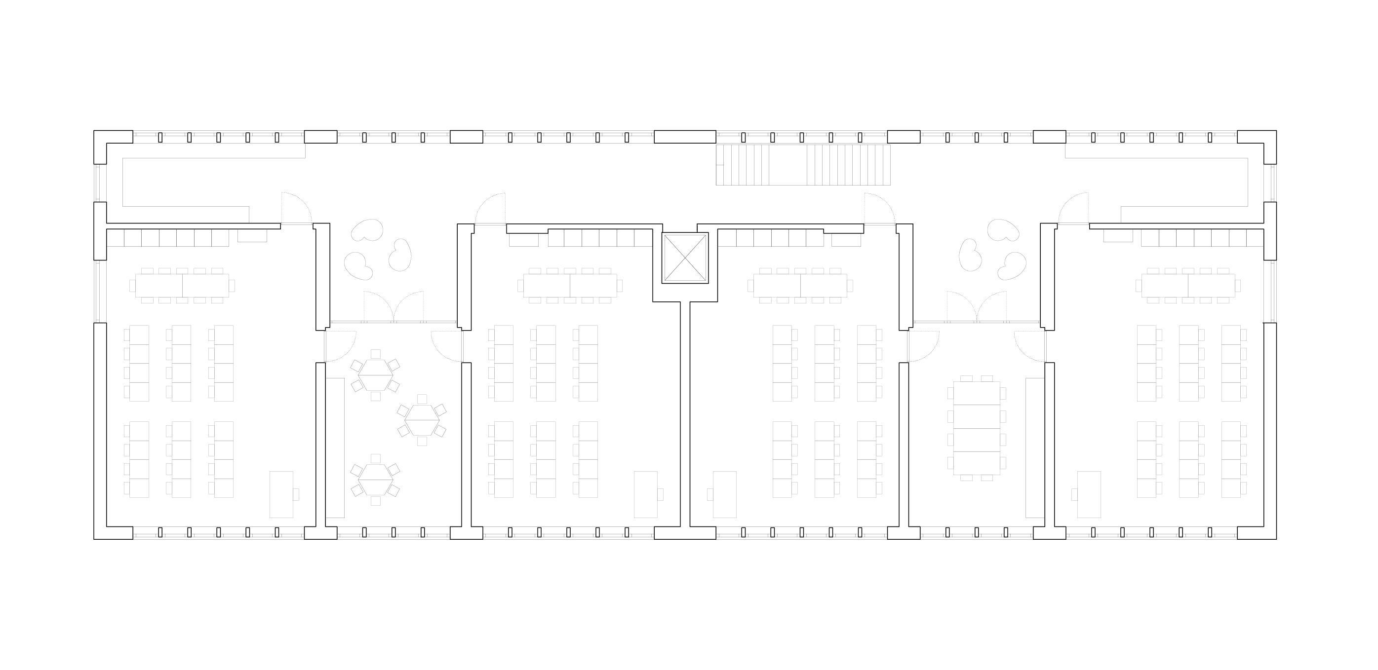 Grundriss Obergeschoss Schulhaus Alp II, Wangen b. Olten von werk1 architekten und planer ag