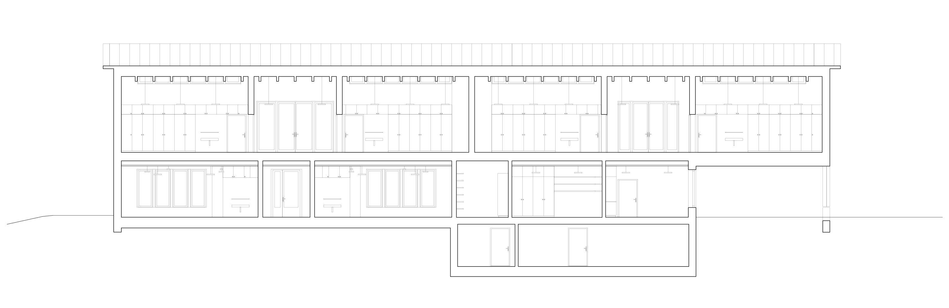 Längsschnitt Schulhaus Alp II, Wangen b. Olten von werk1 architekten und planer ag