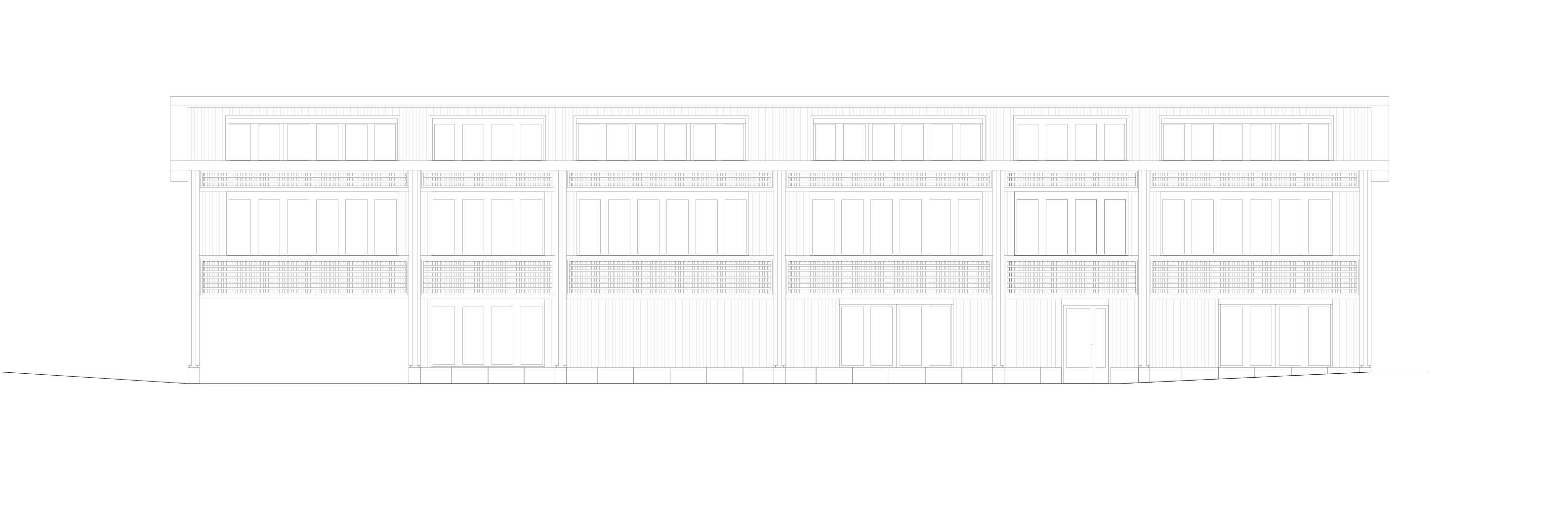 Nordfassade Schulhaus Alp II, Wangen b. Olten von werk1 architekten und planer ag