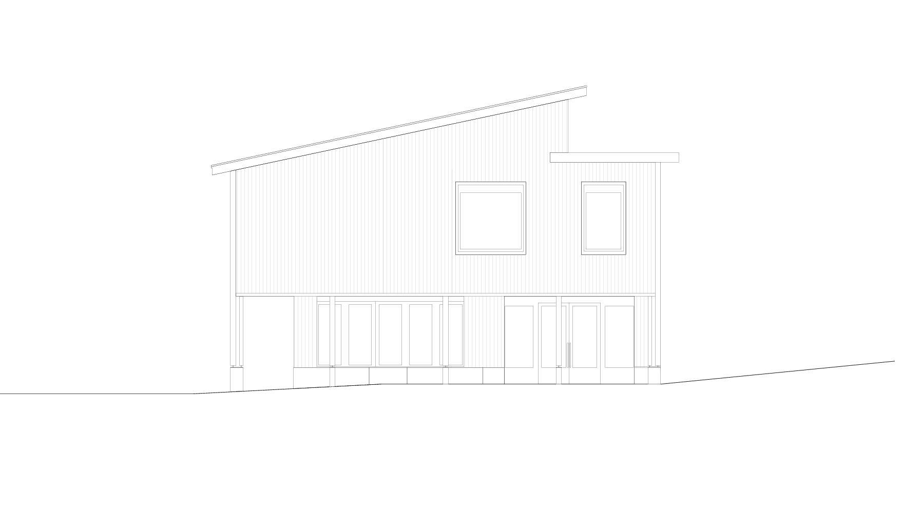 Ostfassade  Schulhaus Alp II, Wangen b. Olten von werk1 architekten und planer ag
