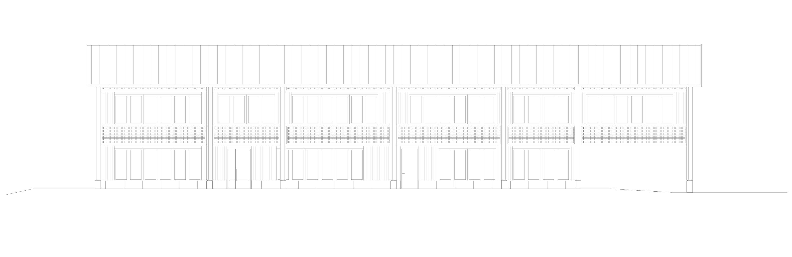 Südfassade  Schulhaus Alp II, Wangen b. Olten von werk1 architekten und planer ag