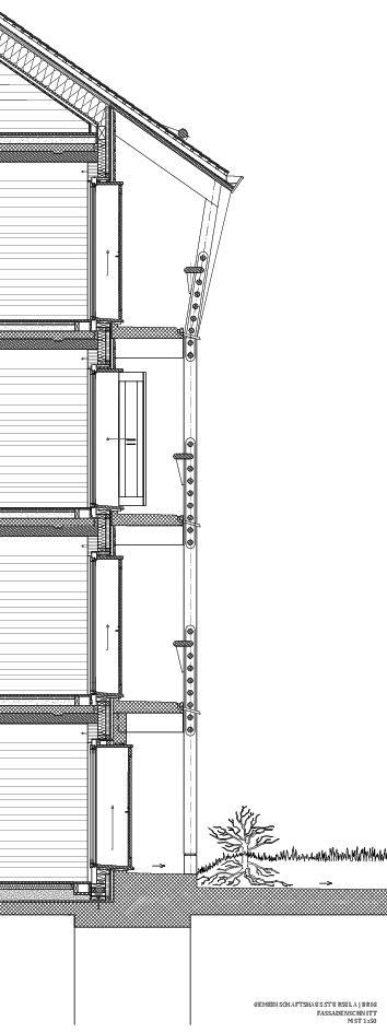 Fassadenschnitt Gemeinschaftshaus St. Ursula von ETH / UG / SIA<br/>