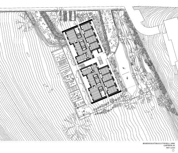 Gartenplan Gemeinschaftshaus St. Ursula von ETH / UG / SIA<br/>