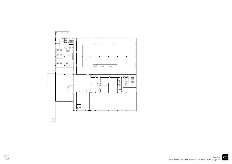 1er étage Produktionsgebäude Hamilton Ems de DOMENIG ARCHITEKTEN AG