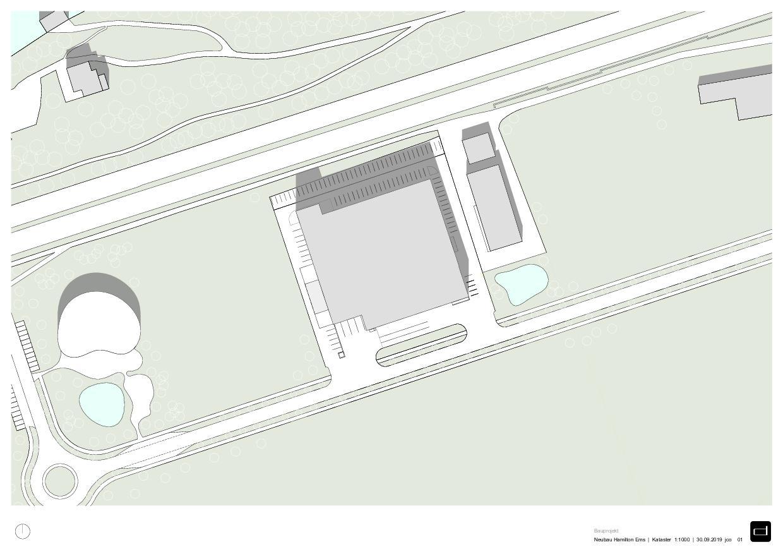 Kataster Produktionsgebäude Hamilton Ems de DOMENIG ARCHITEKTEN AG