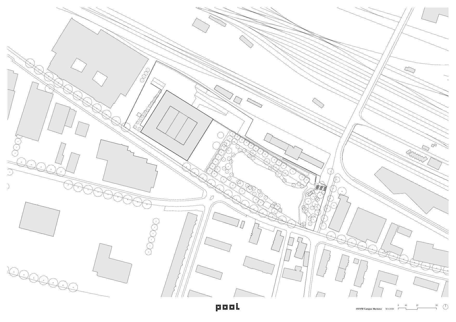 Situationsplan FHNW-Campus Muttenz von pool Architekten