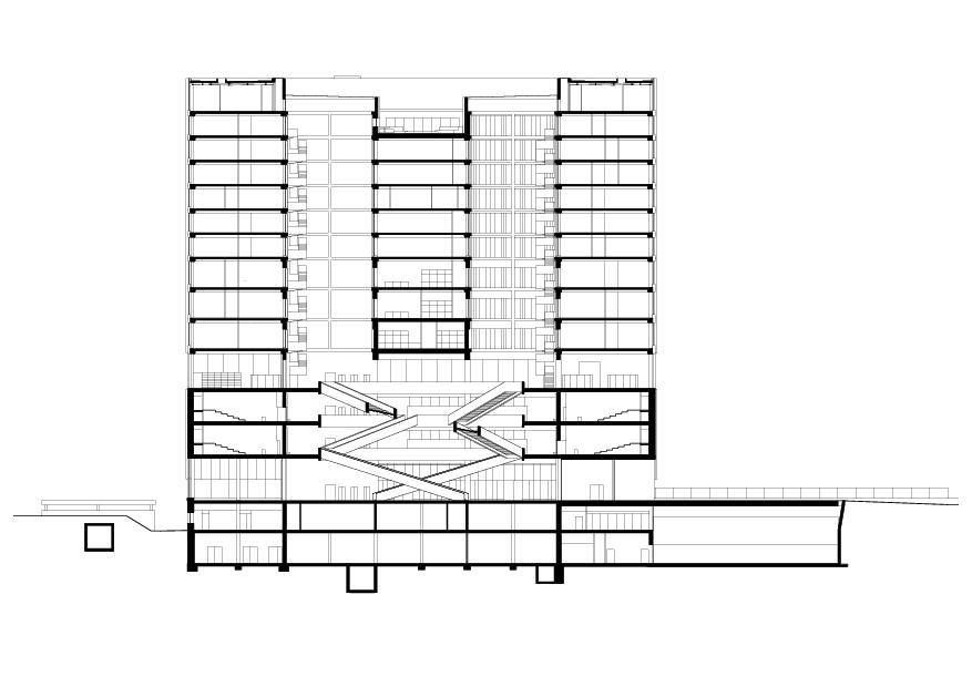 coupe A-A FHNW-Campus Muttenz de pool Architekten