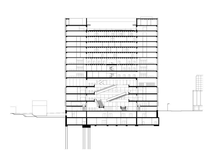 coupe F-F FHNW-Campus Muttenz de pool Architekten