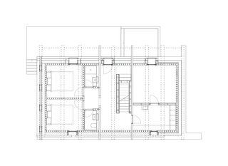 Grundriss Erdgeschoss 1:200 Stall-Haus, Lumbrein von Morger + Dettli Architekten AG
