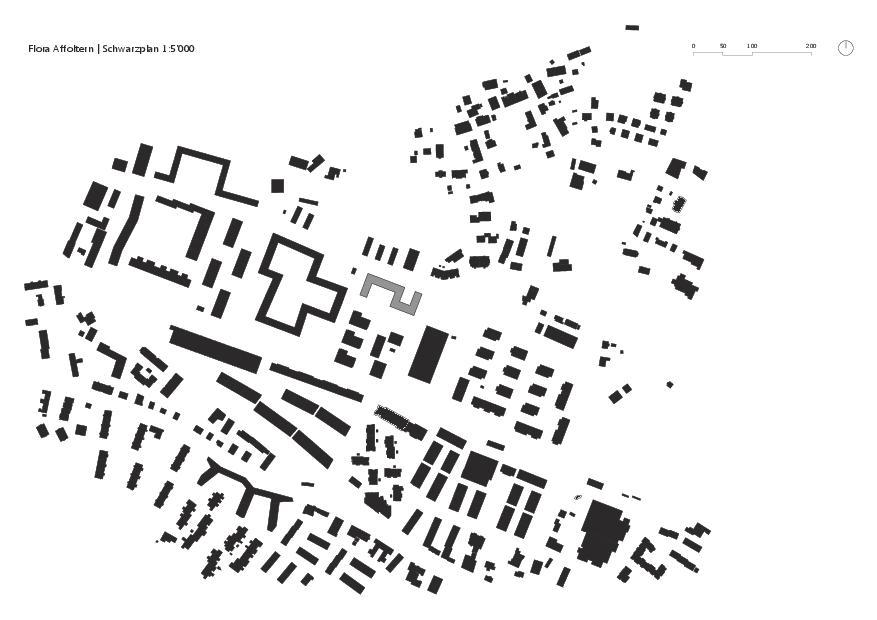 Schwarzplan Flora Affoltern von KMP Architektur AG