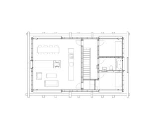 Grundriss Obergeschoss 1:200 Stall-Haus, Lumbrein von Morger + Dettli Architekten AG