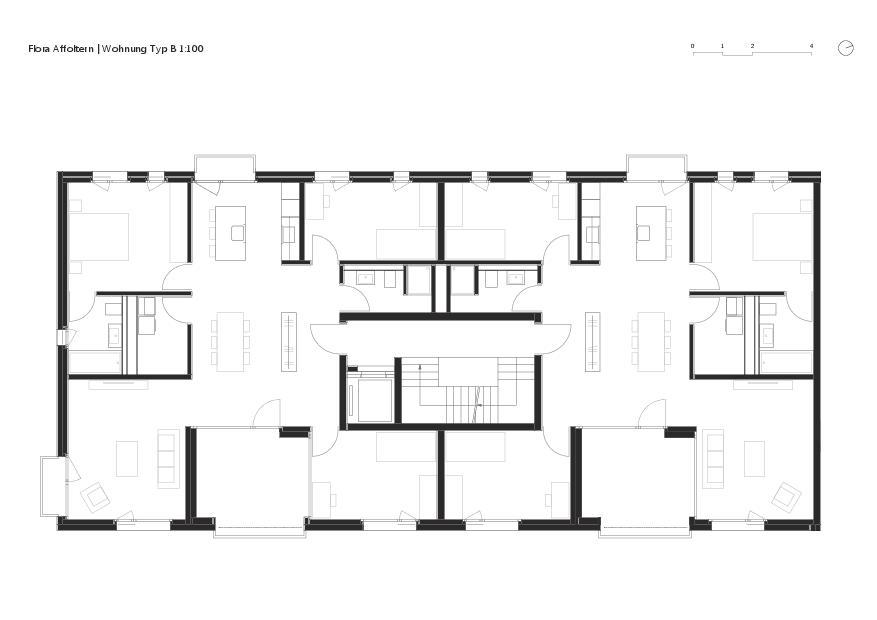 Wohnungstyp B Flora Affoltern von KMP Architektur AG