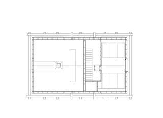 Grundriss Dachgeschoss 1:200 Stall-Haus, Lumbrein von Morger + Dettli Architekten AG