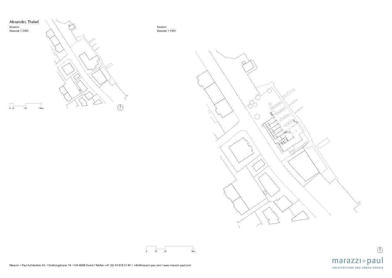Situation au lac de Zurich Boutiquehotel Alex de Marazzi + Paul Architekten AG