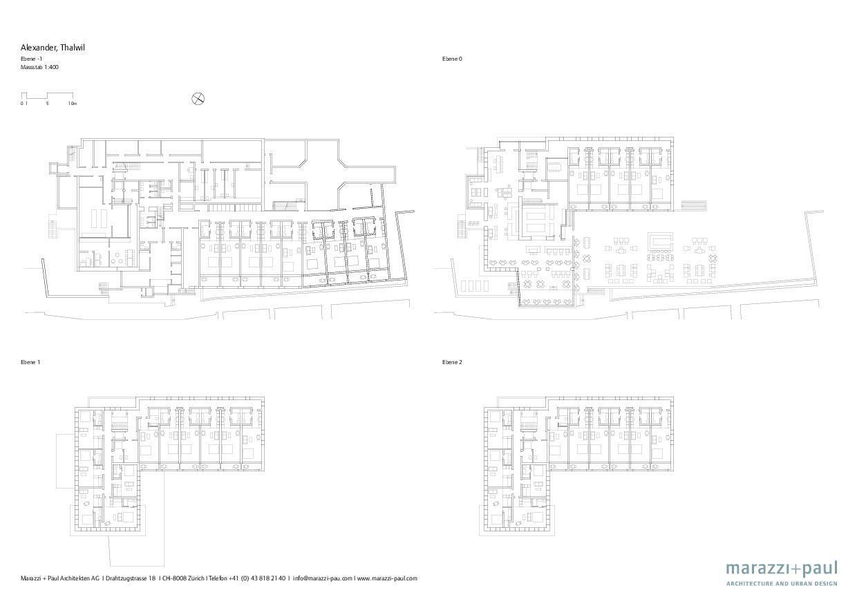 Plan Boutiquehotel Alex de Marazzi + Paul Architekten AG