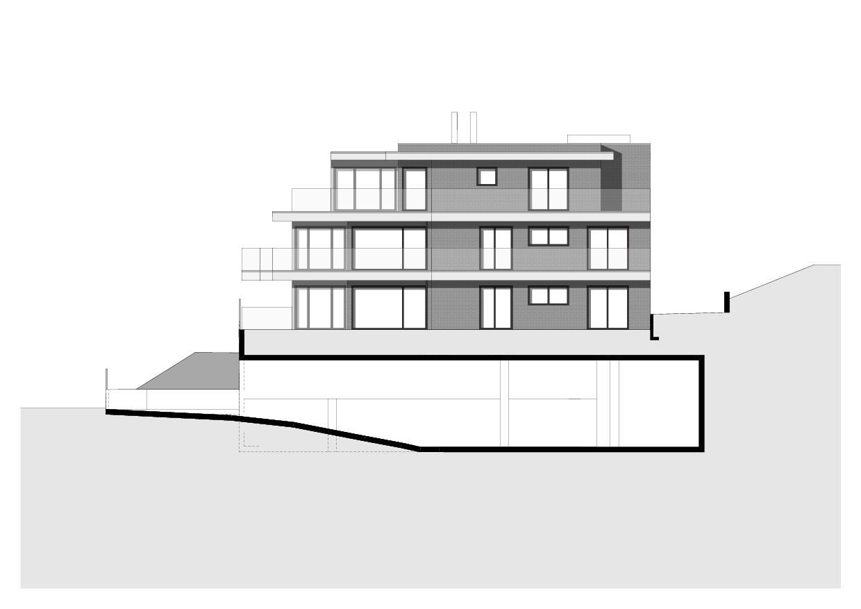 Vue sud Haus am Rosenberg de Zottele & Gallicchio Architekten AG