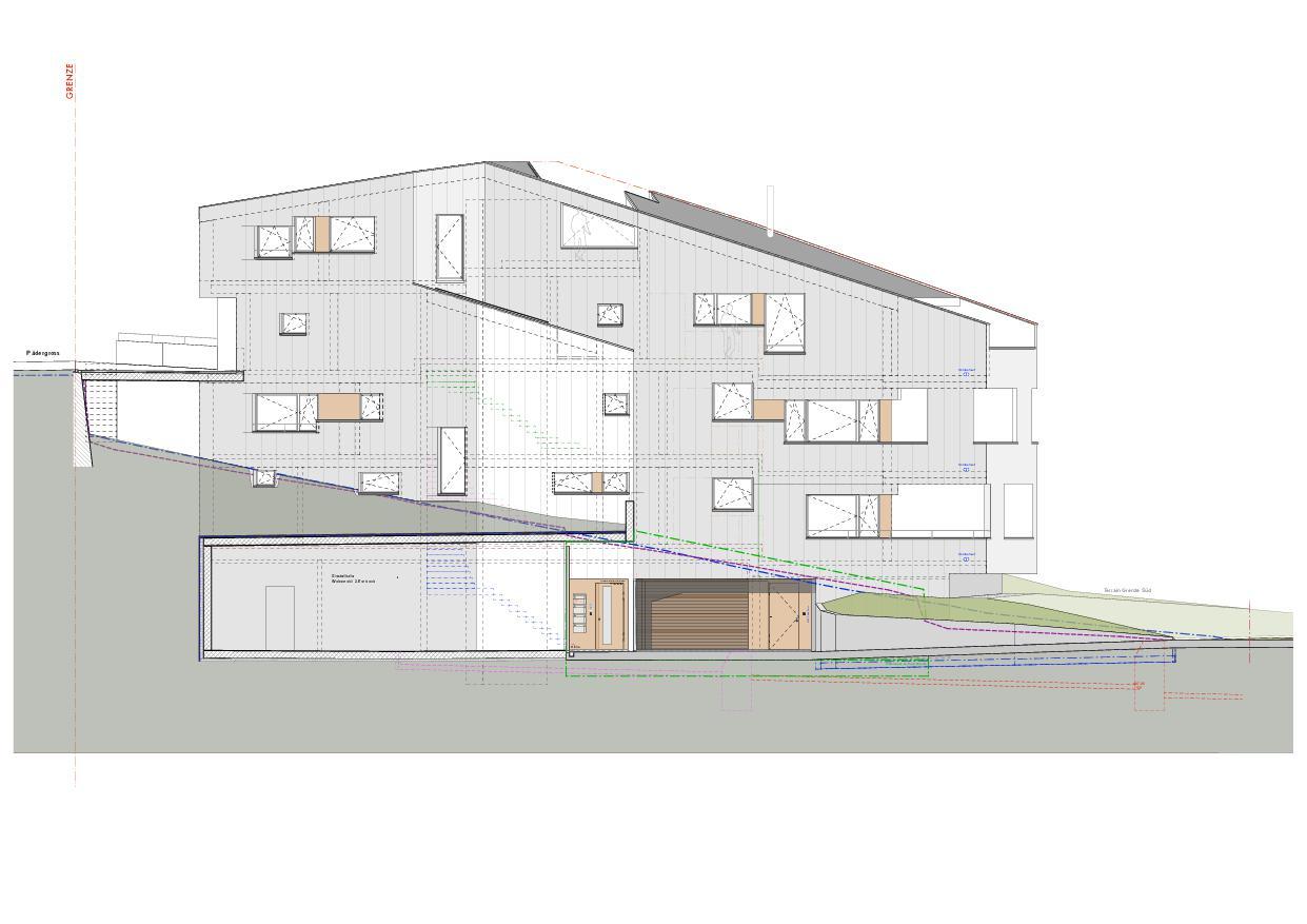 Ansicht Nord Haus Obergass von uli mayer urs hüssy architekten ETH SIA AG