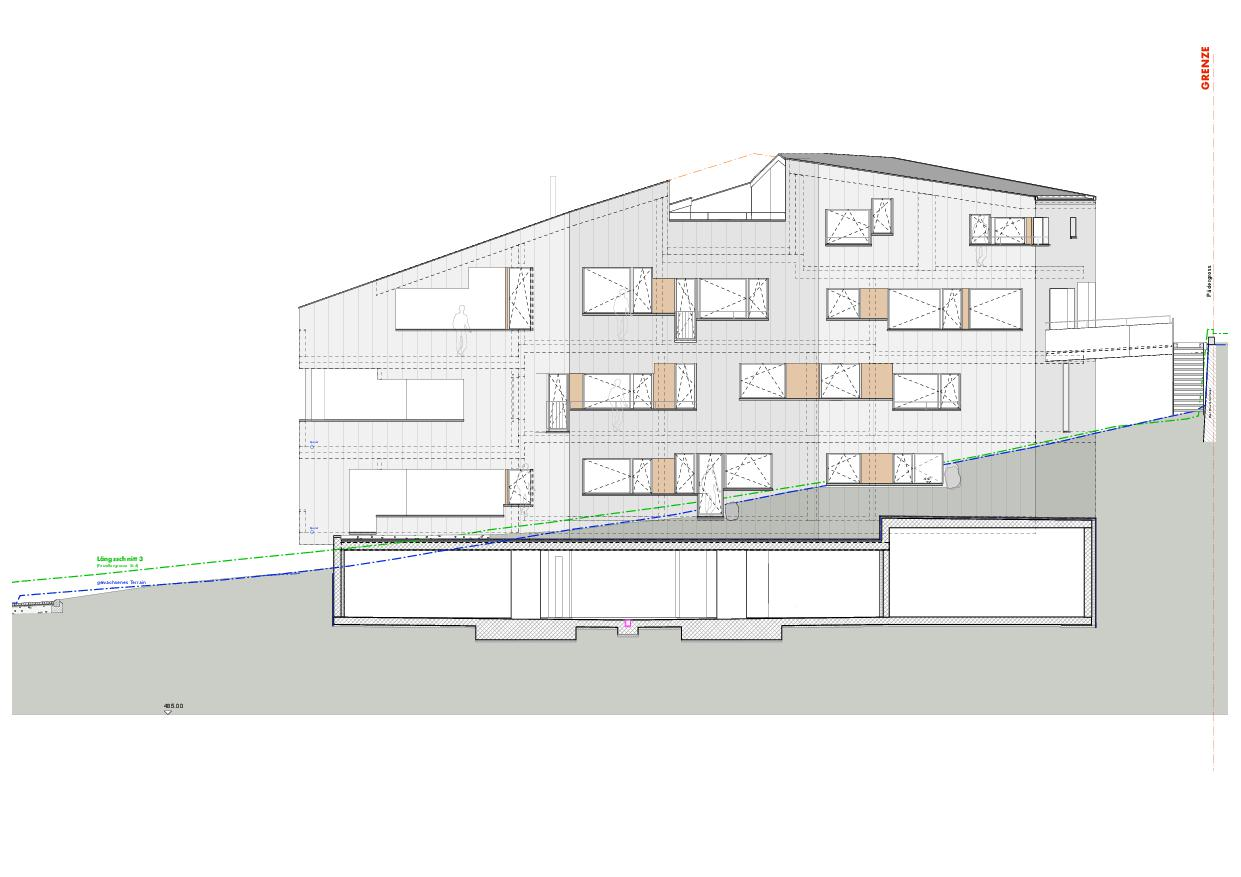 Ansicht Süd Haus Obergass von uli mayer urs hüssy architekten ETH SIA AG