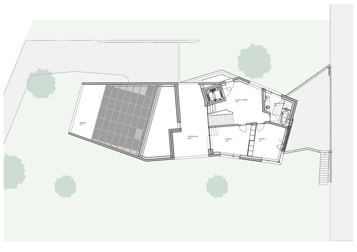 Plan du comble  Haus Obergass de Dipl. Architekten ETH/SIA<br/>
