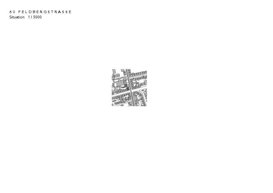 Situation Instandsetzung und Neubau Feldbergstrasse von Architekturbüro<br/>