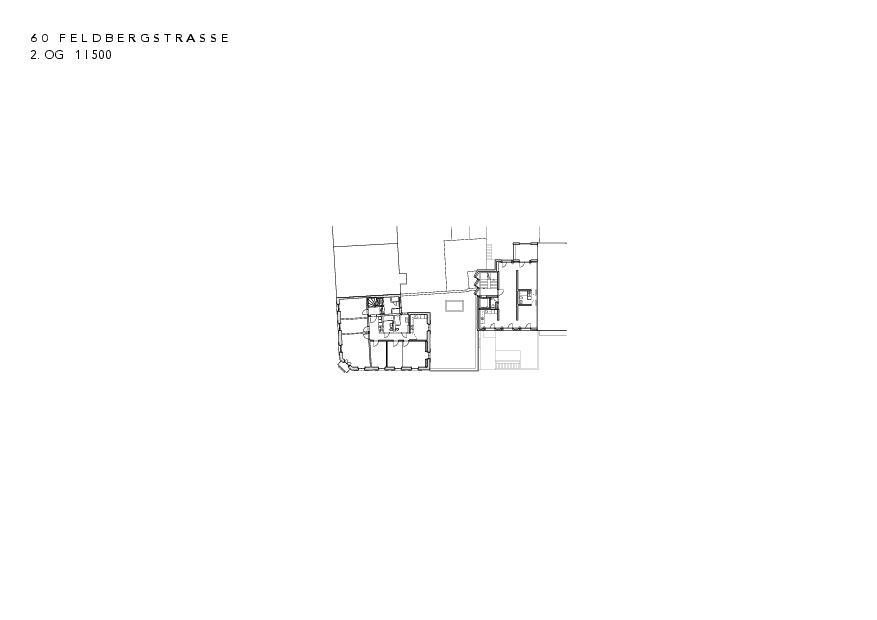 2. Obergeschoss Instandsetzung und Neubau Feldbergstrasse von Architekturbüro<br/>