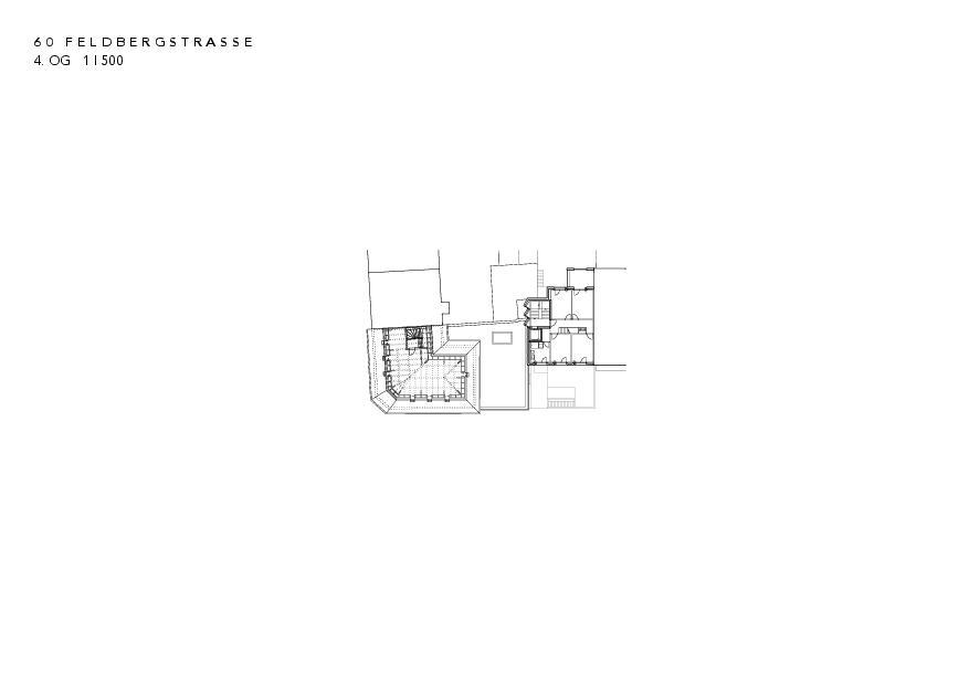 4. Obergeschoss Instandsetzung und Neubau Feldbergstrasse von Architekturbüro<br/>