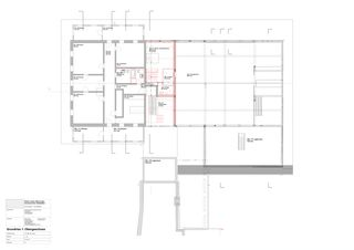 Grundriss 1. Obergeschoss © AST_BST Einbau zweier Wohnungen in den schützenswerten Grossacherhof von Architekten Gemeinschaft Stoll Stähli