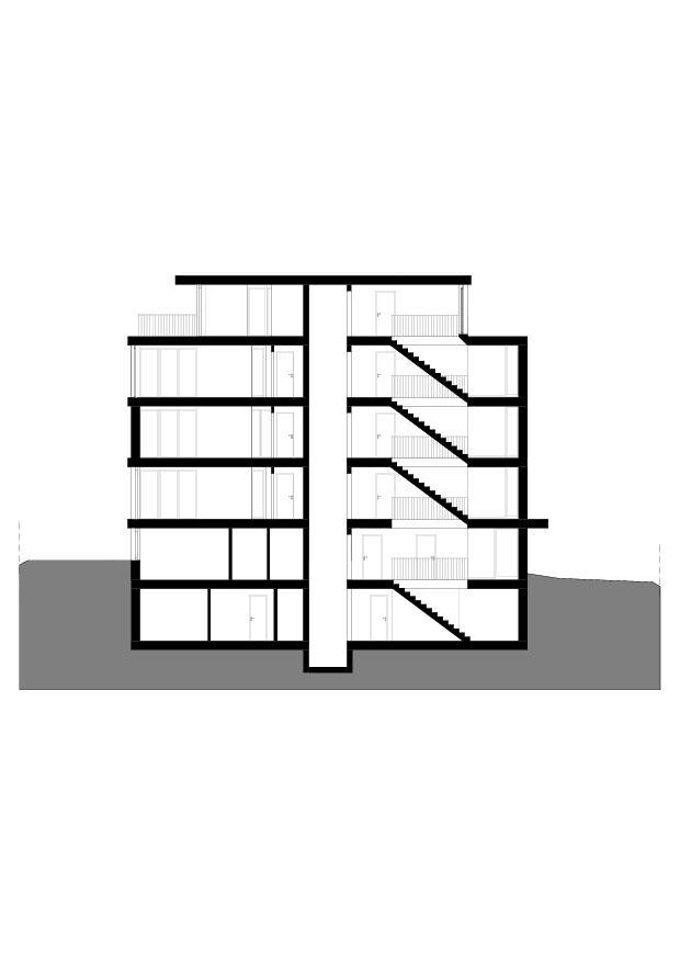 Coupe Wohnbau am Entlisberg de Melliger & Neugeboren Architekten GmbH