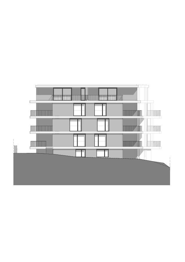 Südfassade Wohnbau am Entlisberg von Melliger & Neugeboren Architekten GmbH