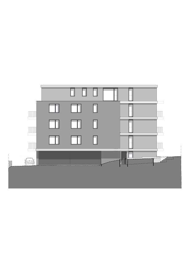 Nordfassade Wohnbau am Entlisberg von Melliger & Neugeboren Architekten GmbH