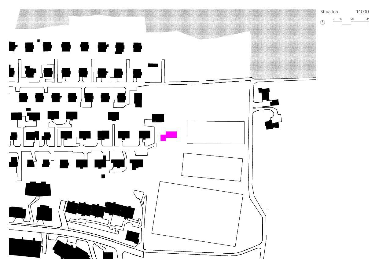 Situation / Schwarzplan Ersatzneubau Einfamilienhaus von Wir Architekten GmbH