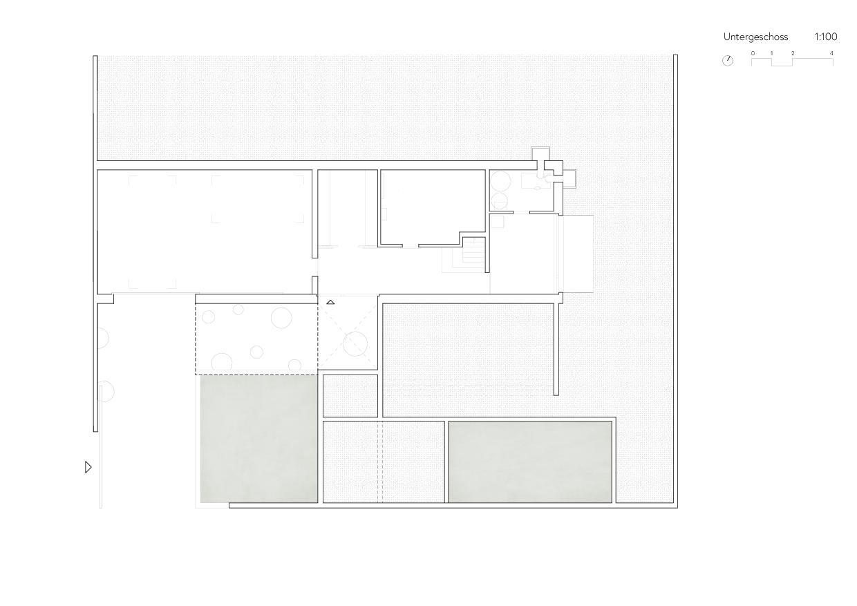 Untergeschoss Ersatzneubau Einfamilienhaus von Wir Architekten GmbH