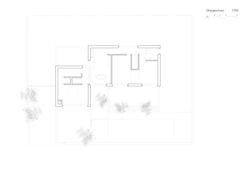 Obergeschoss Ersatzneubau Einfamilienhaus von Wir Architekten GmbH