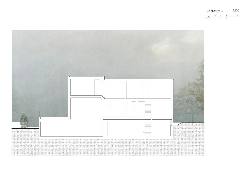 Längsschnitt Ersatzneubau Einfamilienhaus von Wir Architekten GmbH