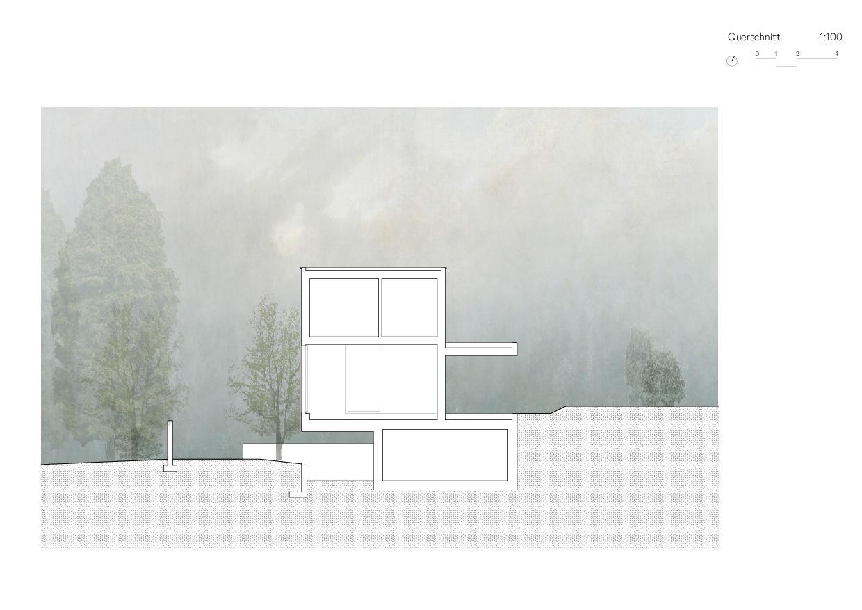 Querschnitt Ersatzneubau Einfamilienhaus von Wir Architekten GmbH