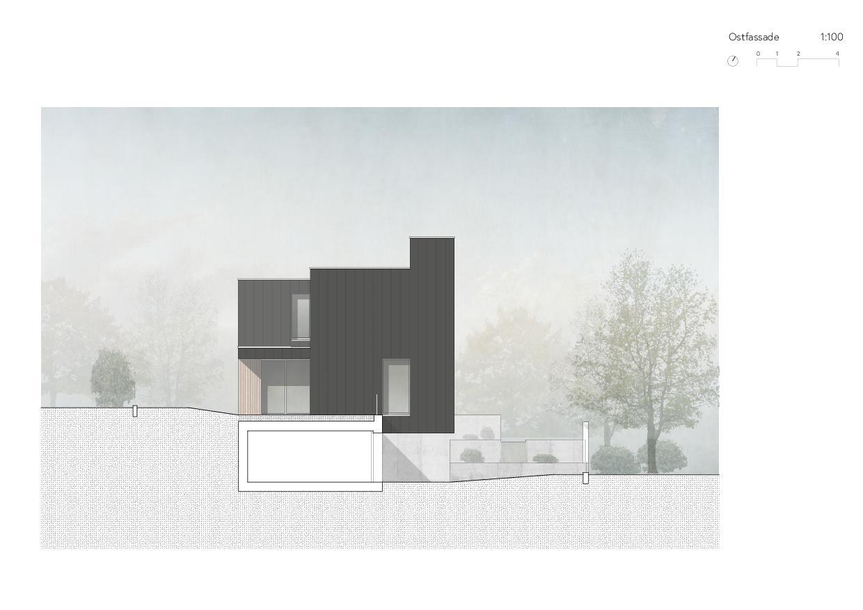 Ostfassade Ersatzneubau Einfamilienhaus von Wir Architekten GmbH
