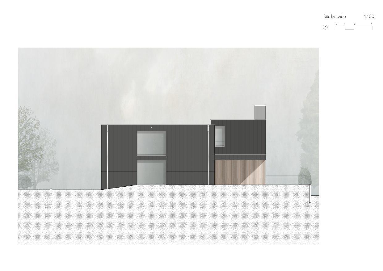 Südfassade Ersatzneubau Einfamilienhaus von Wir Architekten GmbH