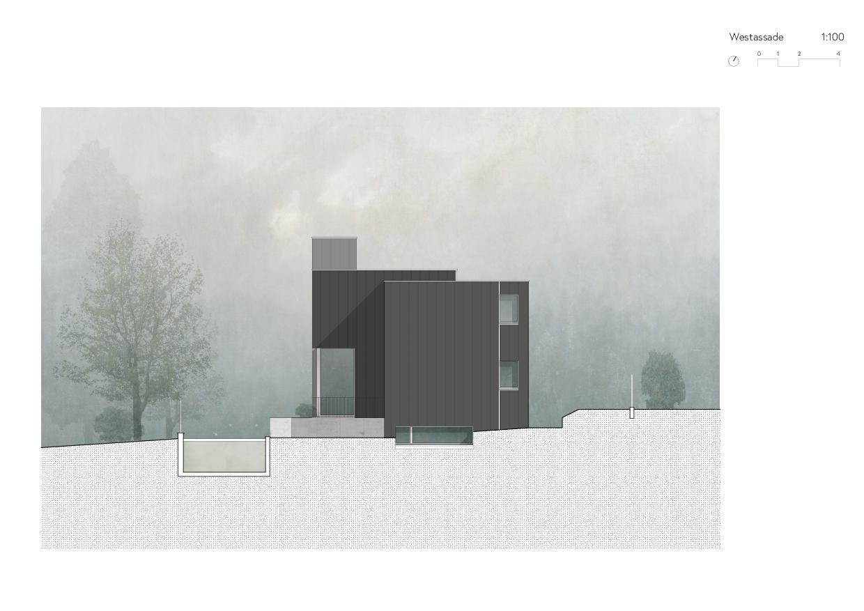 Westfassade Ersatzneubau Einfamilienhaus von Wir Architekten GmbH