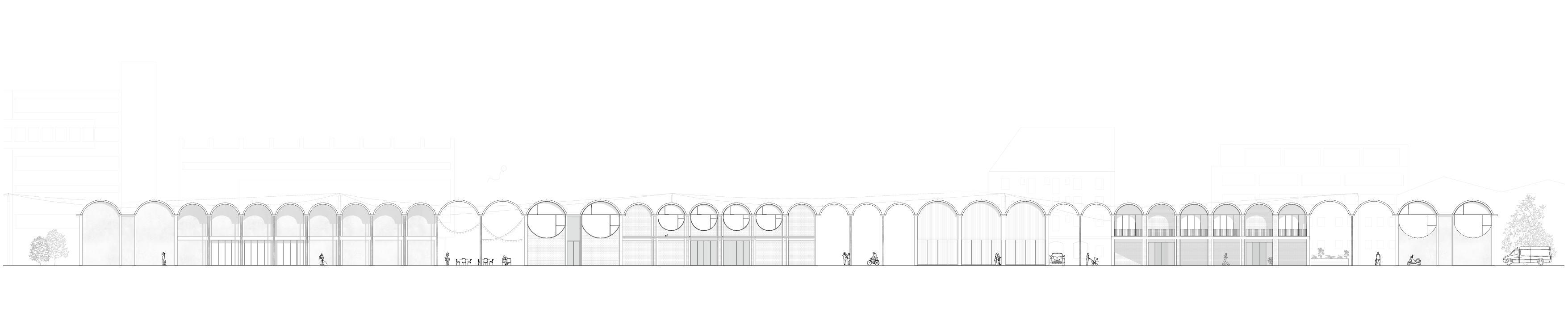 Fassade Gemeinschaftshaus Luzern von