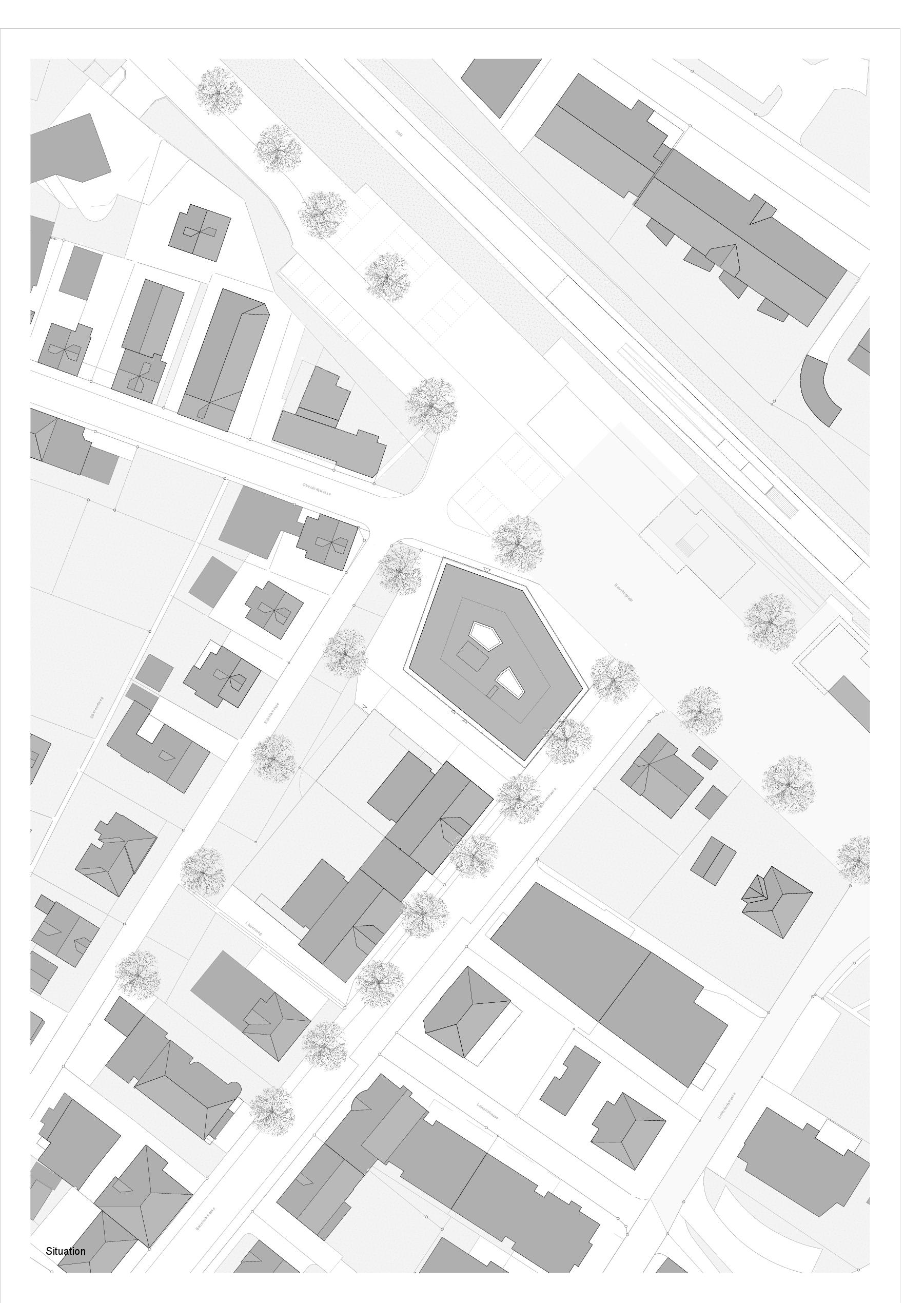 Situation  5egg Flawil de Brechbuehler Walser Architekten