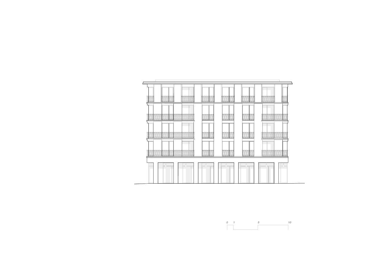 Vue nord-est 5egg Flawil de Brechbuehler Walser Architekten