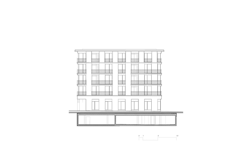 Vue nord-ouest 5egg Flawil de Brechbuehler Walser Architekten